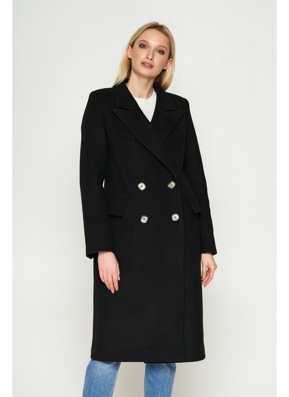 Пальто Монако, деми, кашемир, черный