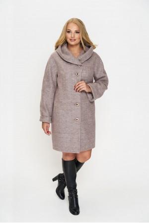Пальто Марго, деми, шерсть, розовый