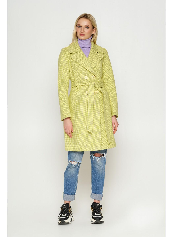 Женское Демисезонное Пальто Нонна Кашемир Клетка Лимонный купить в Украине: фото, цена, характеристики, отзывы