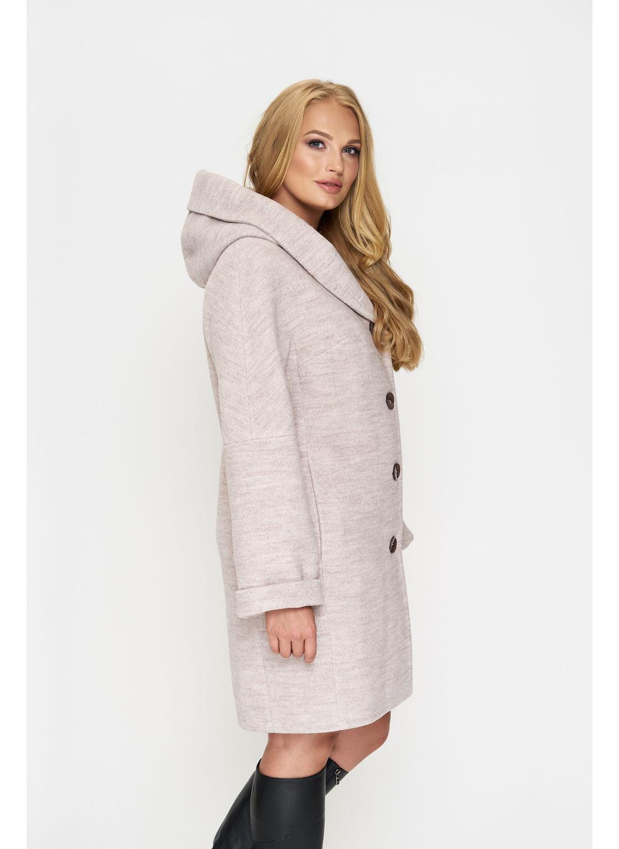 Женское Демисезонное Пальто Марго с капюшоном Шерсть Бежевый 800 купить в Украине: фото, цена, характеристики, отзывы - фото 3