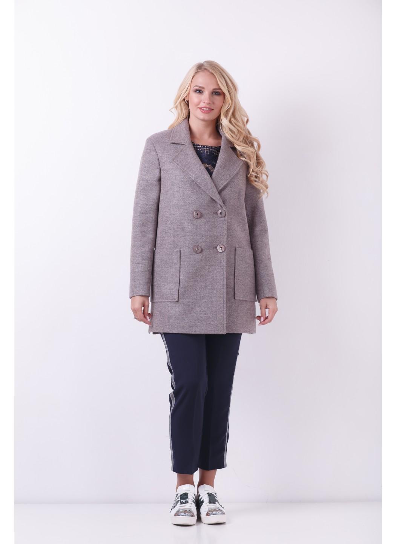 Пиджак Виктория, деми, шерсть, розовый 819