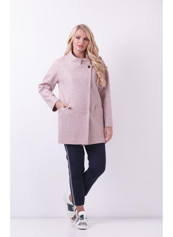 Женское Демисезонное Пальто Мика Шерсть Пудра купить в Украине: фото, цена, характеристики, отзывы - фото 1