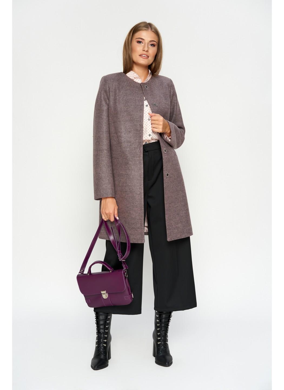 Пальто Диана, деми, шерсть, розовый купить в Украине: фото, цена, характеристики, отзывы - фото 1