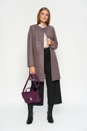 Пальто Диана, деми, шерсть, розовый