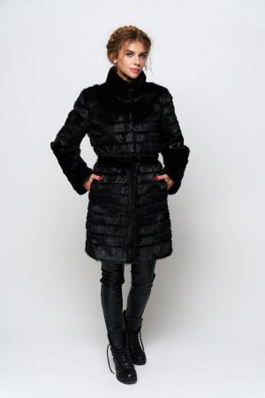 Меховое пальто из стриженной нутрии Ляля