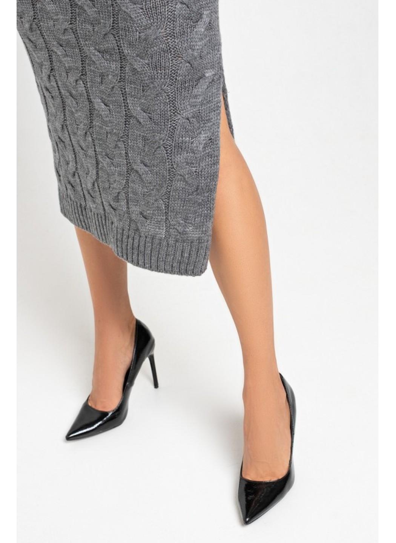 Женское Вязаное Платье Ангелина Темно-серый купить в Украине: фото, цена, характеристики, отзывы - фото 2