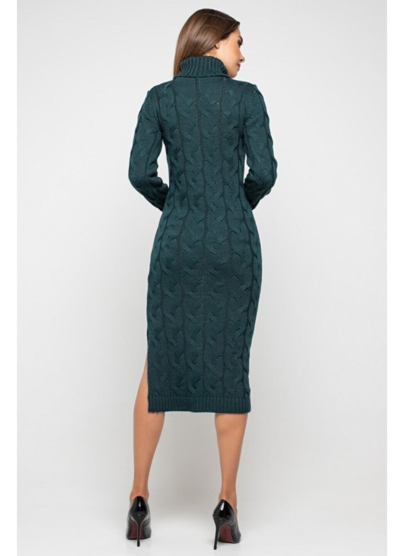 Женское Вязаное платье Ангелина Зеленый купить в Украине: фото, цена, характеристики, отзывы - фото 3