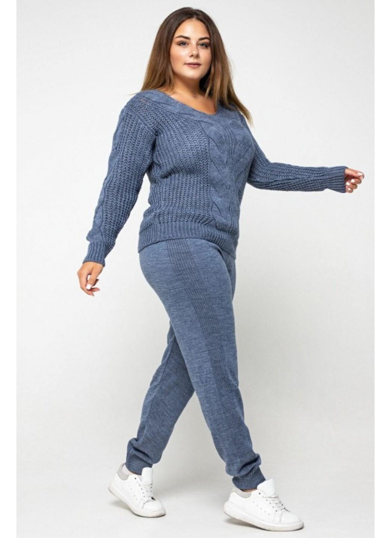 Женский Вязаный костюм Николь Джинс Size+ купить в Украине: фото, цена, характеристики, отзывы - фото 2