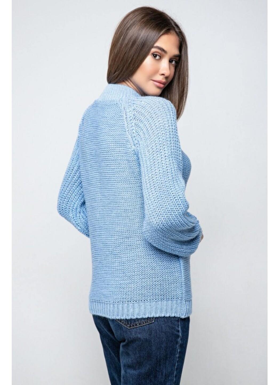 Женский Вязаный свитер Ника с люрексом Голубой купить в Украине: фото, цена, характеристики, отзывы - фото 3