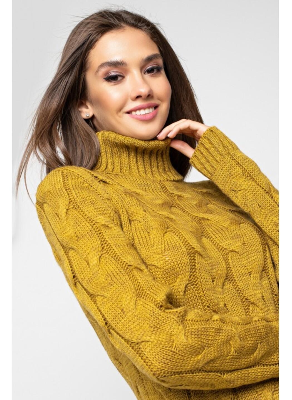 Женское Вязаное платье Ангелина Горчица купить в Украине: фото, цена, характеристики, отзывы - фото 2