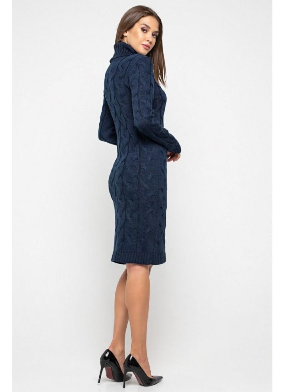Женское Вязаное платье Сабрина Темно-синий купить в Украине: фото, цена, характеристики, отзывы - фото 1