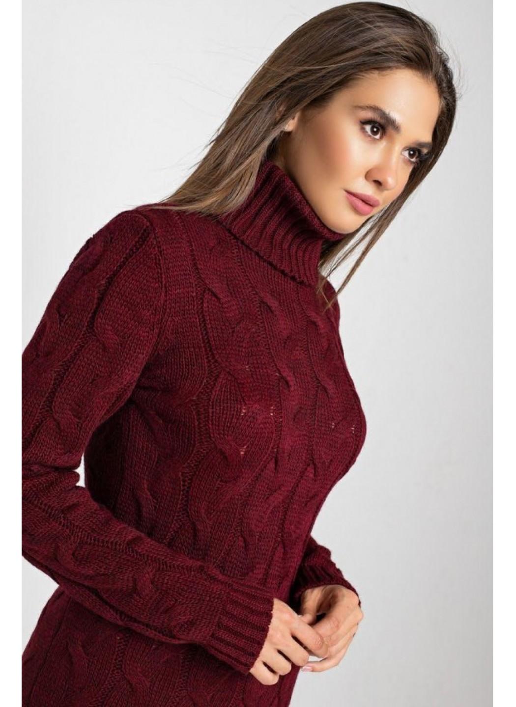 Женское Вязаное платье Сабрина Бордо купить в Украине: фото, цена, характеристики, отзывы - фото 3