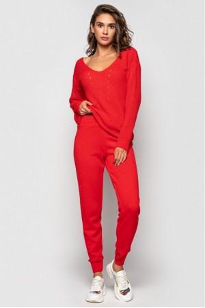 Вязаный костюм «Эля» - Красный