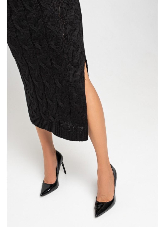 Женское Вязаное Платье Эвелина Черный купить в Украине: фото, цена, характеристики, отзывы - фото 2