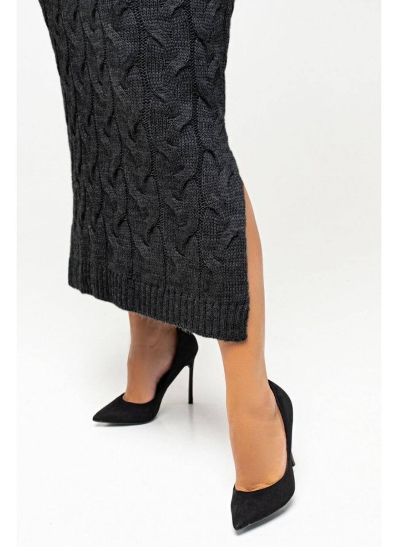 Женское Вязаное Платье Эвелина Черный Size+ купить в Украине: фото, цена, характеристики, отзывы - фото 2