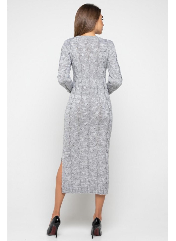 Женское Вязаное Платье Эвелина Светло-серый купить в Украине: фото, цена, характеристики, отзывы - фото 3