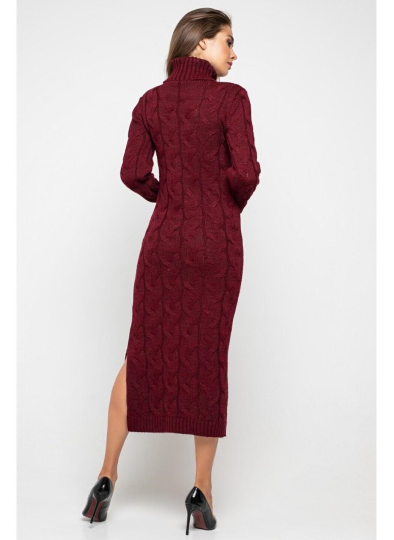 Женское Вязаное платье Ангелина Бордо купить в Украине: фото, цена, характеристики, отзывы - фото 2