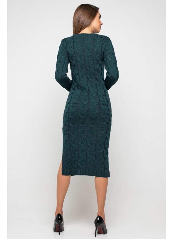 Женское Вязаное Платье Эвелина Зеленый купить в Украине: фото, цена, характеристики, отзывы - фото 2