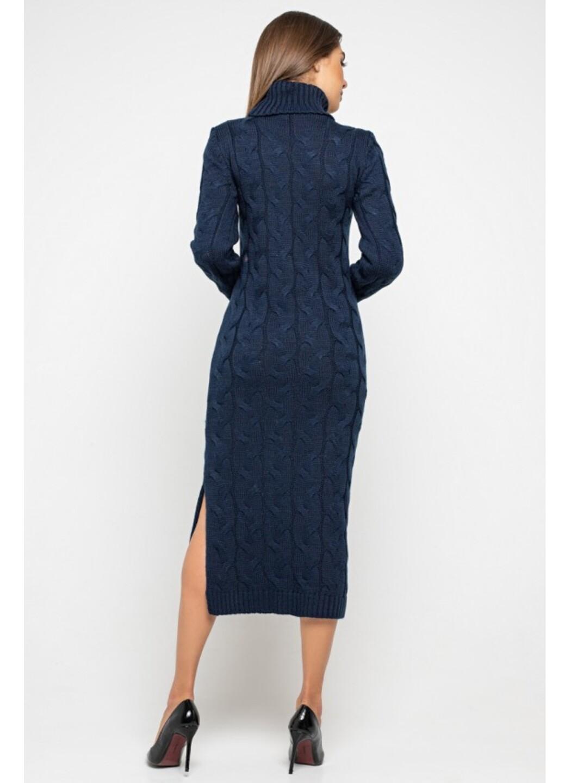 Женское Вязаное Платье Ангелина Темно-синий купить в Украине: фото, цена, характеристики, отзывы - фото 3