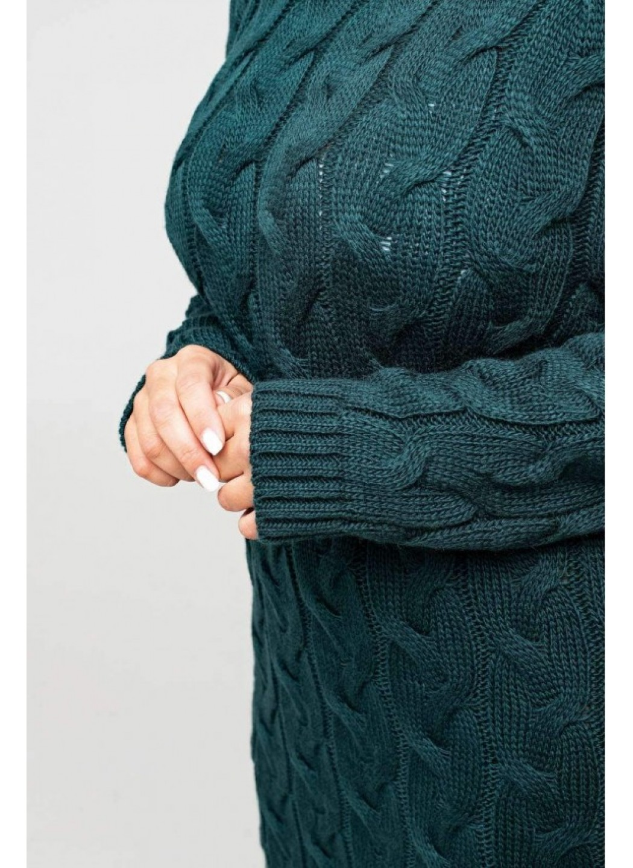 Женское Вязаное Платье Каролина Зеленый Size+ купить в Украине: фото, цена, характеристики, отзывы - фото 3