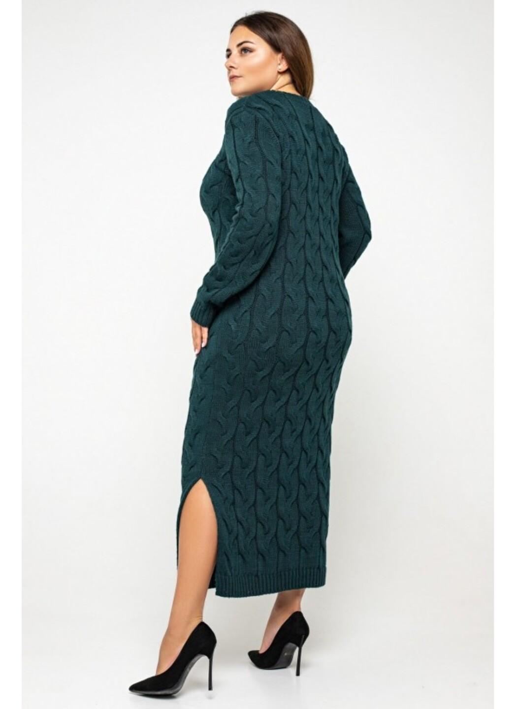 Женское Вязаное Платье Эвелина Зеленый Size+ купить в Украине: фото, цена, характеристики, отзывы - фото 4