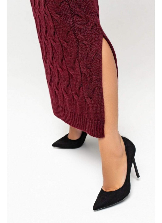 Женское Вязаное платье Ангелина Бордо Size+ купить в Украине: фото, цена, характеристики, отзывы - фото 3