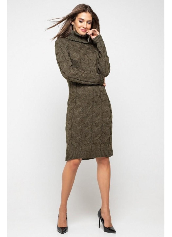 Женское Вязаное платье Сабрина Табак купить в Украине: фото, цена, характеристики, отзывы - фото 1
