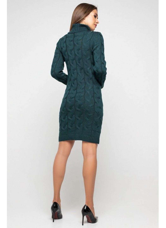 Женское Вязаное платье Сабрина Зеленый купить в Украине: фото, цена, характеристики, отзывы - фото 2