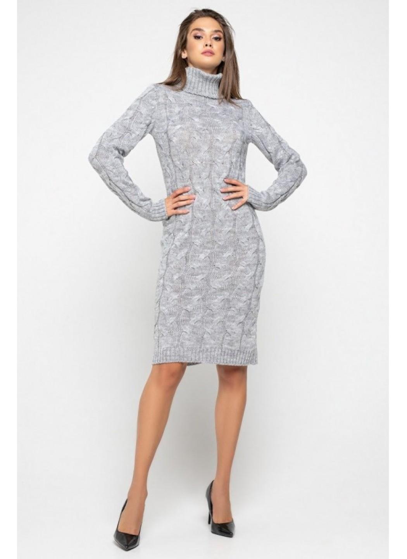 Женское Вязаное платье Сабрина Светло-серый купить в Украине: фото, цена, характеристики, отзывы - фото 4