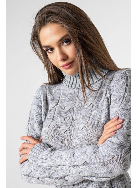Женское Вязаное платье Сабрина Светло-серый купить в Украине: фото, цена, характеристики, отзывы - фото 1