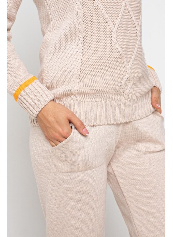 Женский Вязаный костюм Рима Светлая пудра купить в Украине: фото, цена, характеристики, отзывы - фото 3
