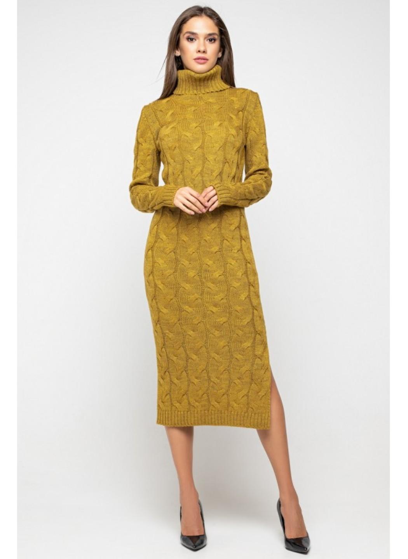 Женское Вязаное платье Ангелина Горчица купить в Украине: фото, цена, характеристики, отзывы - фото 1