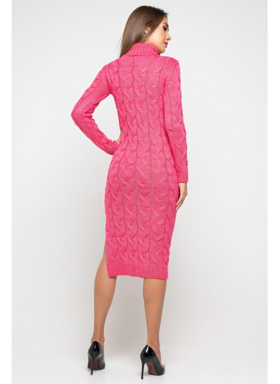 Женское Вязаное платье Ангелина Малиновый купить в Украине: фото, цена, характеристики, отзывы - фото 3