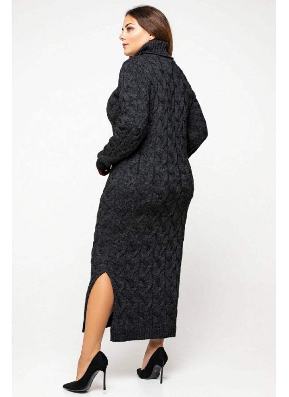 Женское Вязаное Платье Ангелина Черный Size+ купить в Украине: фото, цена, характеристики, отзывы - фото 4