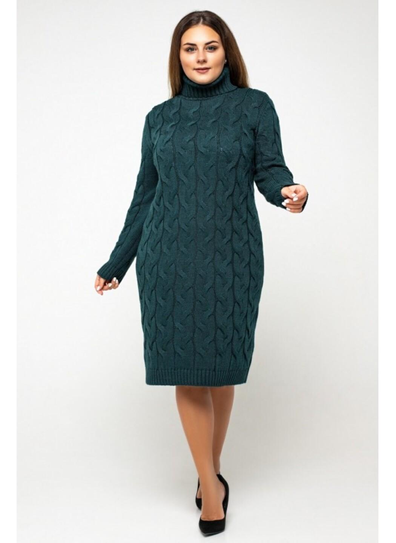 Женское Вязаное платье Сабрина Зеленый Size+ купить в Украине: фото, цена, характеристики, отзывы - фото 2