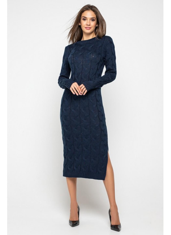 Женское Вязаное Платье Эвелина Темно-синий