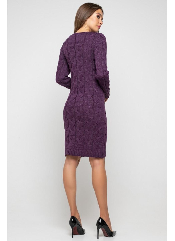 Женское Вязаное Платье Каролина Баклажан купить в Украине: фото, цена, характеристики, отзывы - фото 3