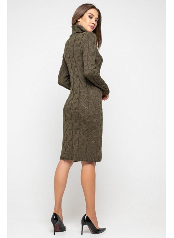 Женское Вязаное платье Сабрина Табак купить в Украине: фото, цена, характеристики, отзывы - фото 3