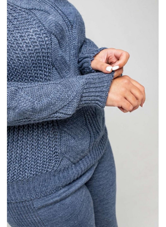 Женский Вязаный костюм Николь Джинс Size+ купить в Украине: фото, цена, характеристики, отзывы - фото 1
