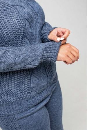 Вязаный костюм «Николь» - джинс - Size+