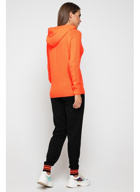 Женский Вязаный костюм Карина с капюшоном Оранжевый купить в Украине: фото, цена, характеристики, отзывы - фото 3