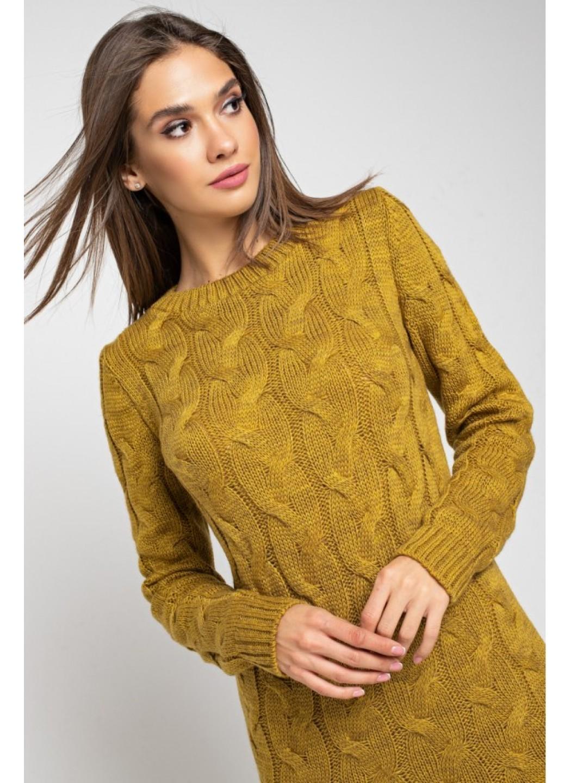Женское Вязаное Платье Каролина Горчица купить в Украине: фото, цена, характеристики, отзывы - фото 2