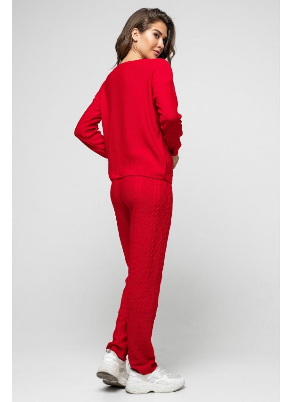 """Вязаный костюм """"Лилия"""" - Красный"""
