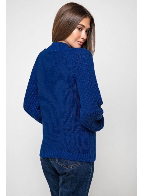 Вязаный свитер «Ника» с люрексом - синий