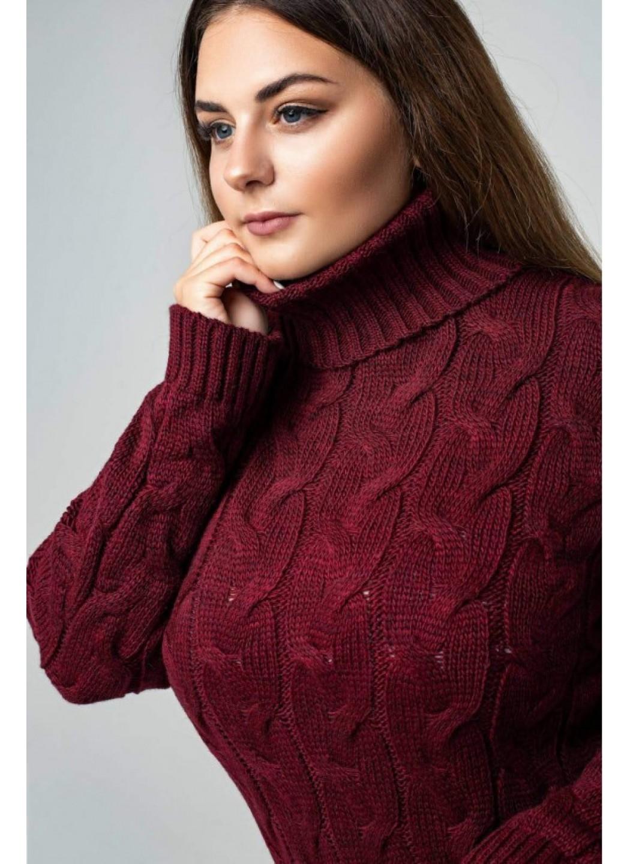 Женское Вязаное платье Сабрина Бордо Size+ купить в Украине: фото, цена, характеристики, отзывы - фото 1