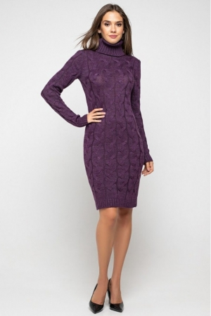 Женское Вязаное платье Сабрина Баклажан