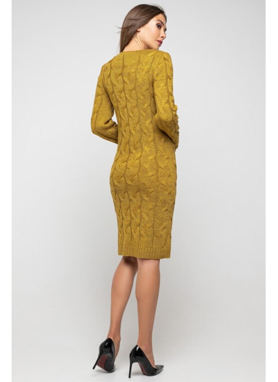 Женское Вязаное Платье Каролина Горчица купить в Украине: фото, цена, характеристики, отзывы - фото 3
