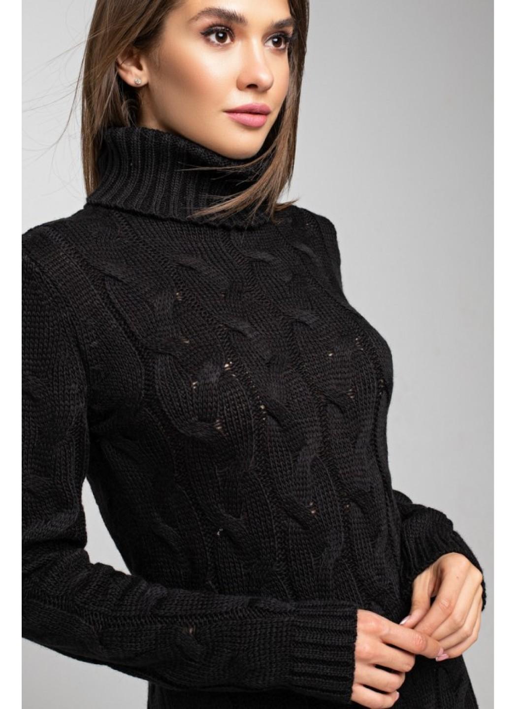 Женское Вязаное Платье Ангелина Черный купить в Украине: фото, цена, характеристики, отзывы - фото 3