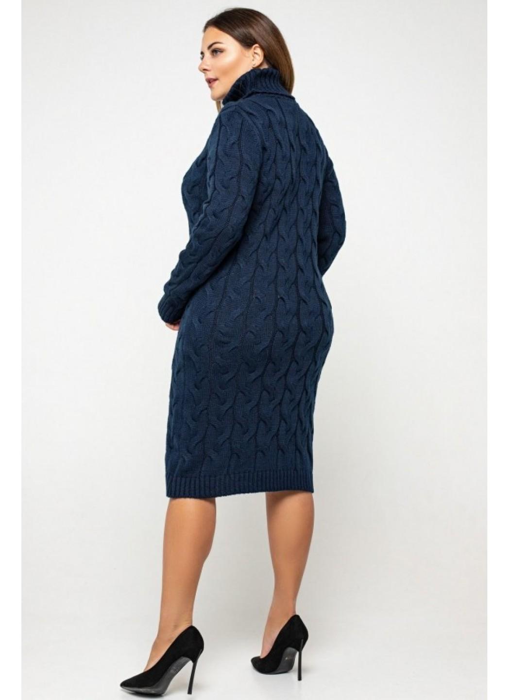 Женское Вязаное платье Сабрина Темно-синий Size+ купить в Украине: фото, цена, характеристики, отзывы - фото 1