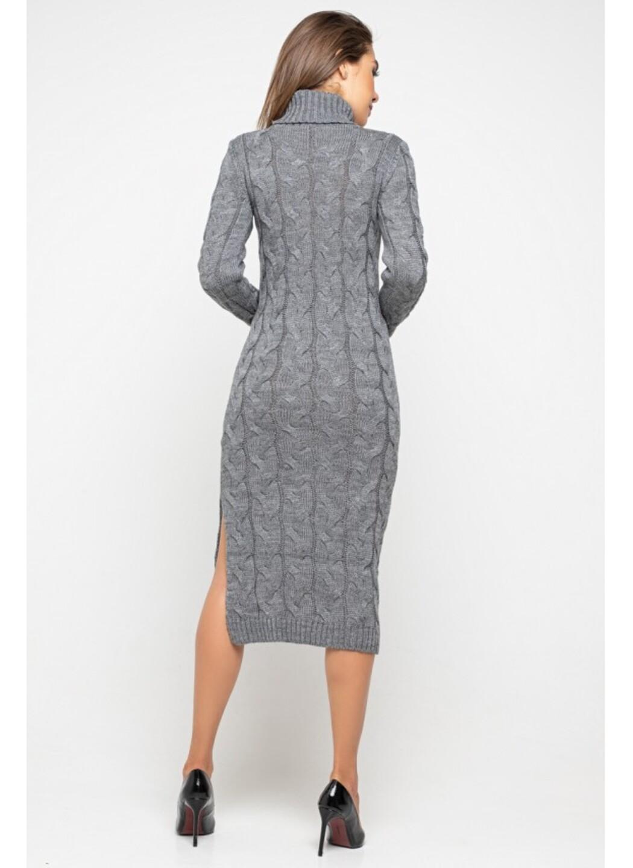 Женское Вязаное Платье Ангелина Темно-серый купить в Украине: фото, цена, характеристики, отзывы - фото 3